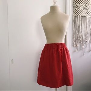 JCREW BURNT ORANGE SKIRT